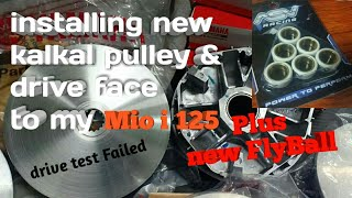 Kalkal Pulley | Drive Face | New FlyBall |Mio i 125 | TopSpeed Failed 😅