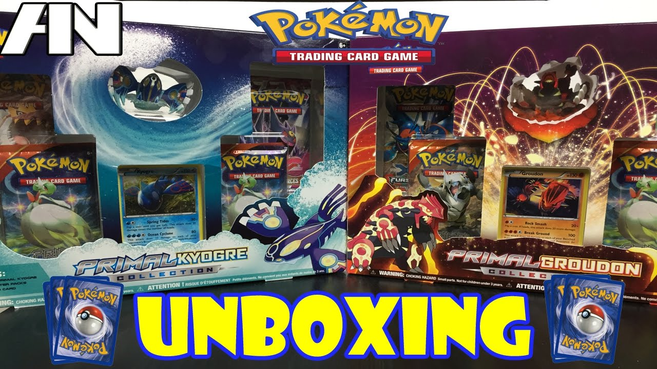 Primal Kyogre Card primal kyogre & primal groudon collection - pokemon card unboxing