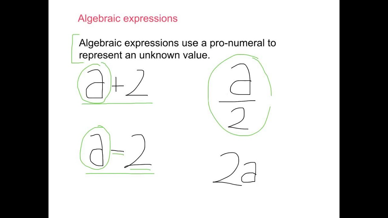 Year 7 algebraic expressions youtube robcynllc Image collections