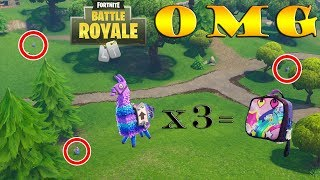 *RARE* Fortnite Triple Llama Spawn... Did we unlock the Brite Bag?
