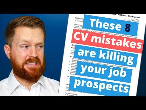 8 CV mistakes that will kill your job applications | Fix them now