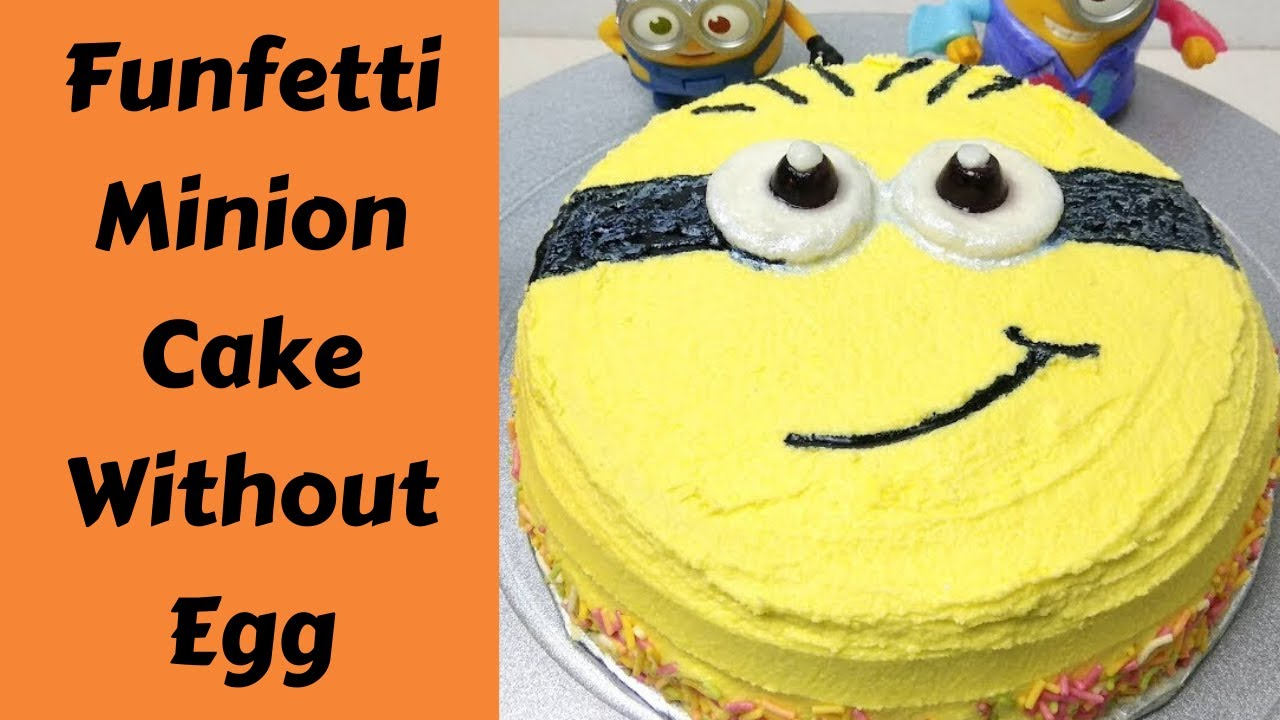 Funfetti Minion Cake Eggless How To Make Minion With
