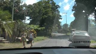 driving through Playa Potrero, Costa Rica on Highway 911