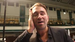 EDDIE HEARN REACTS TO CHAMBERLAIN-CAMACHO THRILLER & BELIEVES JOSHUA v KLITSCHKO WILL HAPPEN