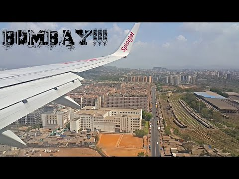 Landing at Mumbai Airport! Spectacular View of Bombay(Mumbai)!