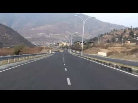 Thimphu Expressway (Only highway in Bhutan)