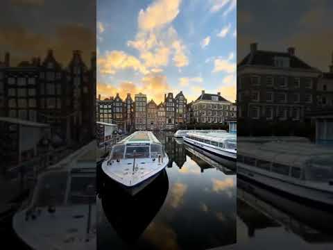 Sunrise in Amsterdam Netherlands