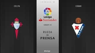 Rueda de prensa Celta vs Eibar