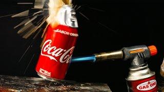 Coca Cola vs Gas Torch in 4K - EXPERIMENT!