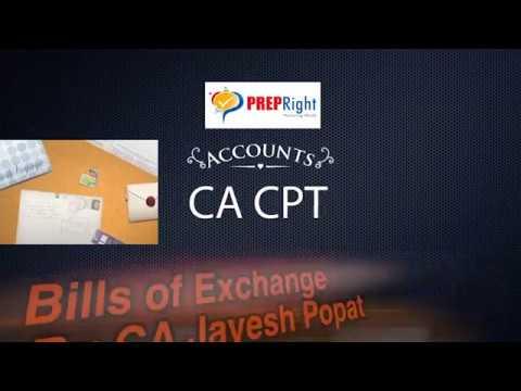Bills of Exchange Class 1 of 3 - CA CPT - Accounts - by CA Jaayyesh Popat