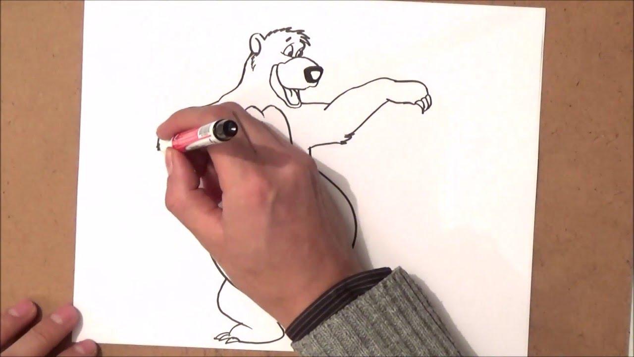 Como Dibujar A Baloo Paso A Paso