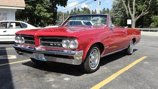 1964 Pontiac GTO Convertible with a Pontiac 421 engine in Red Paint My Car Story with Lou Costabile
