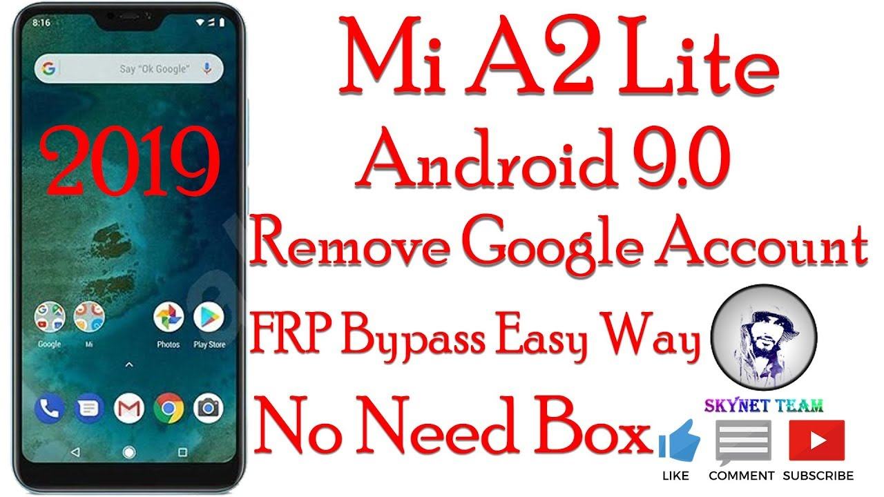 Mi A2 Lite Android 9 Pie Remove Google Account  FRP Bypass Easy Way