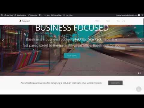 Baseline - Free Business WordPress Website