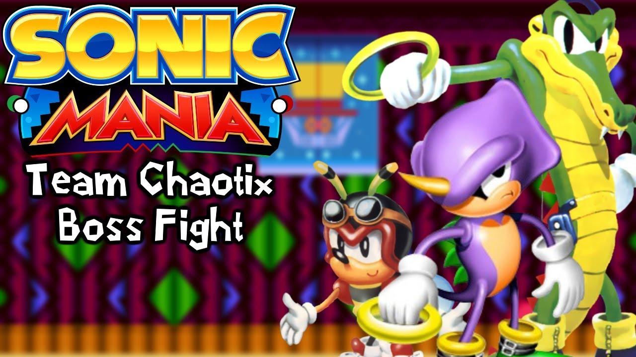 Sonic Mania Mods   Team Chaotix in Sonic Mania (Team Chaotix Boss Fight)