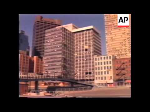 USA: OKLAHOMA CITY: REMAINS OF BOMBED BUILDING TO BE DEMOLISHED