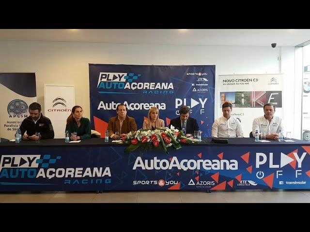 Conferência de Imprensa da Play/AutoAçoreana Racing para o Campeonato de Ralis dos Açores 2019
