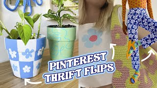Pinterest inspired THRIFT FLÏPS | NO SEW | how to make basic thrift clothes pieces trendy*