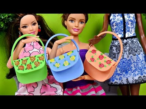 Doll Hand Bag Diy │ Barbie Purse Tutorial │ How To Make Doll Bag │ DIY For Dolls