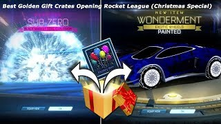 Best Golden Gift Crates Opening Rocket League (Christmas Special)