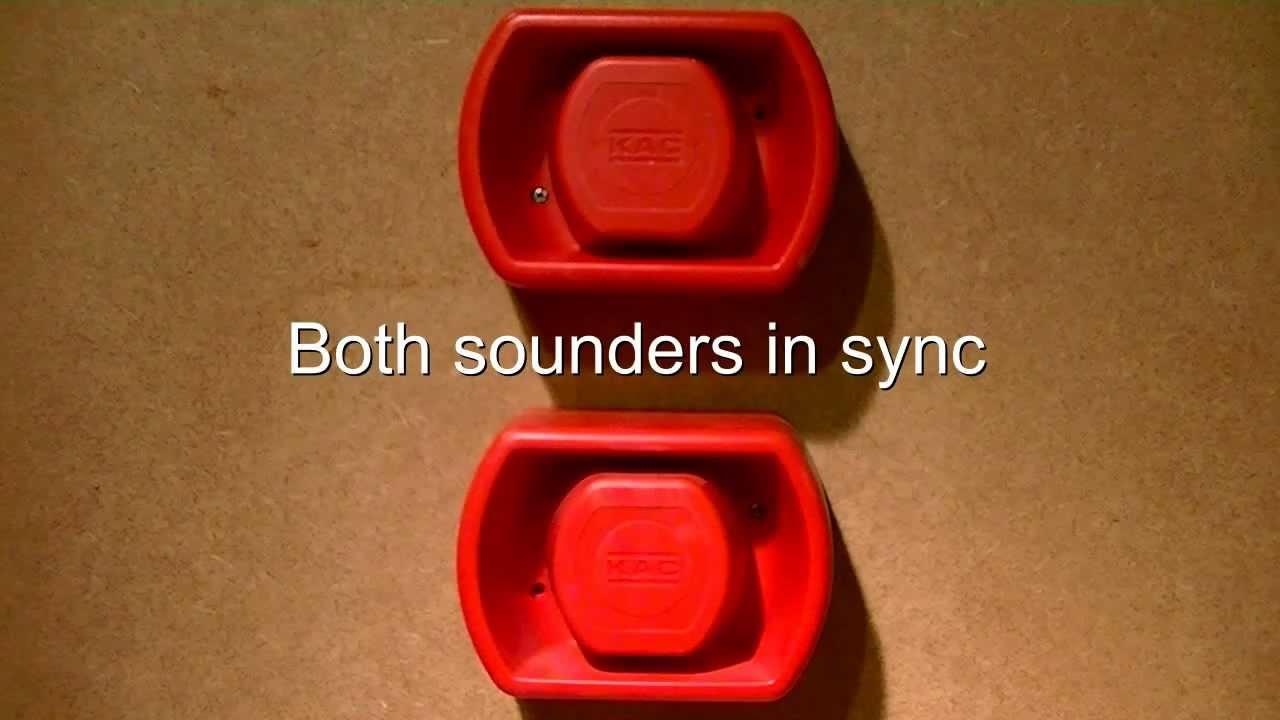 Twin Fire Alarm Sounders