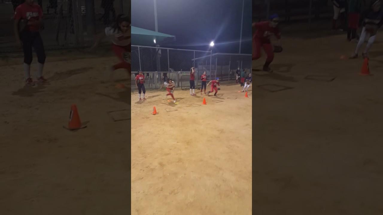 First Step Athletics Academy softball team training