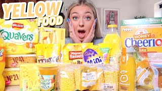 I ONLY ate YELLOW food for 24 HOURS!!