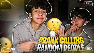 PRANK CALLING PEOPLE BUT WE CAN'T HEAR THEM!