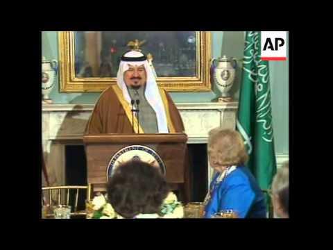 USA: WASHINGTON: SAUDI ARABIA'S DEFENCE MINISTER PRINCE SULTAN VISIT