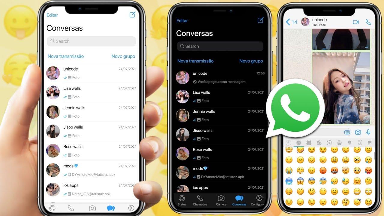 SAIU! NOVA ATUALIZAÇÃO DO WHATSAPP IGUAL IPHONE iOS 14 NO ANDROID 2021
