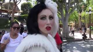 Cruella Meets a Puppy in Disneyland