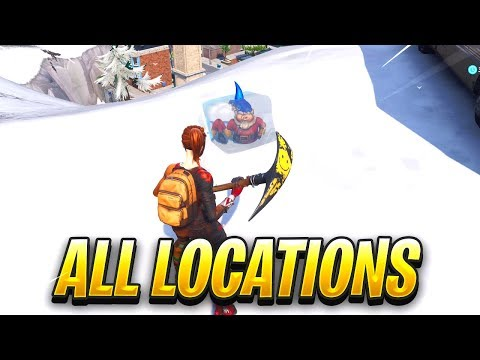"""Search Chilly Gnomes"" FORTNITE MAP LOCATIONS"