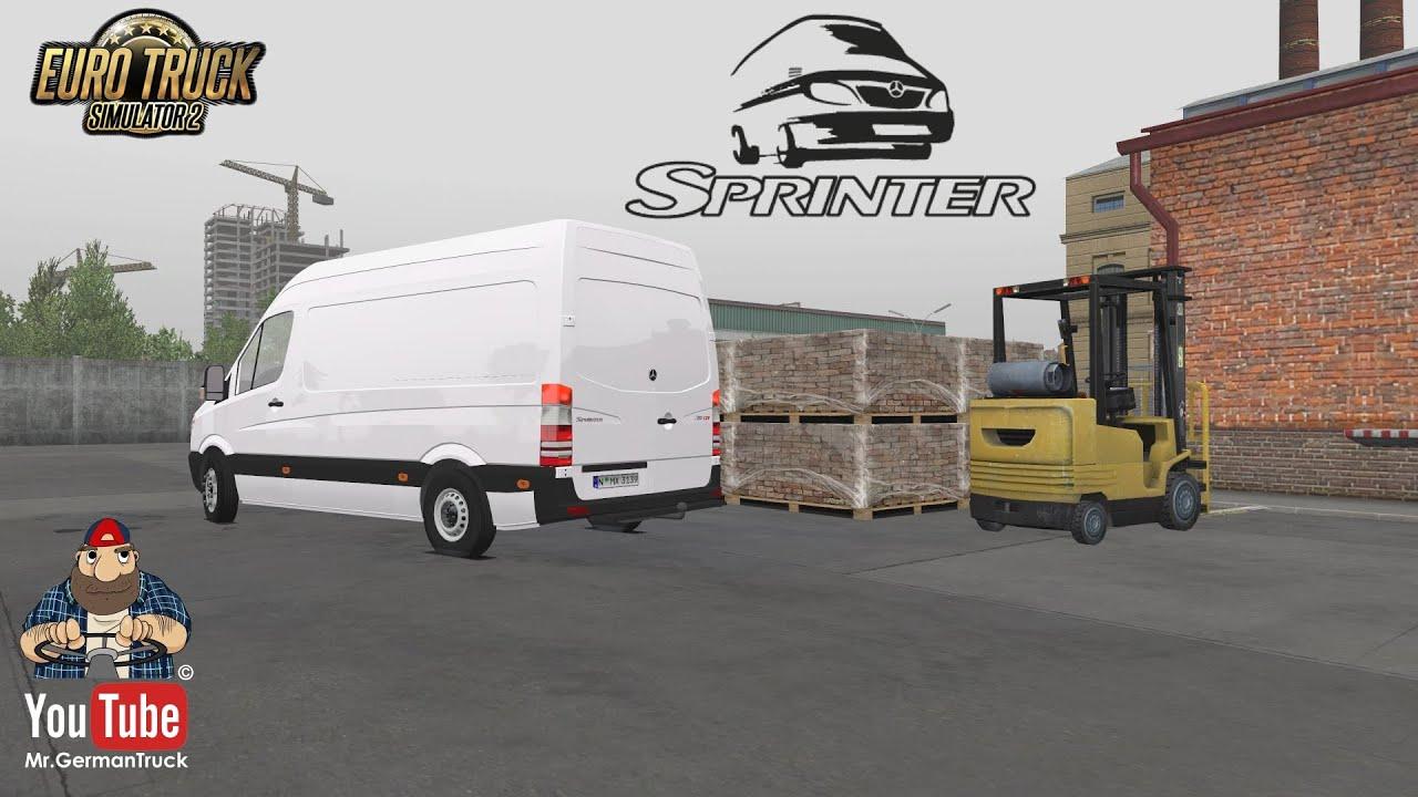 [ETS2 v1.36] Mercedes Sprinter 2009 v1.8 + CargoPack Video