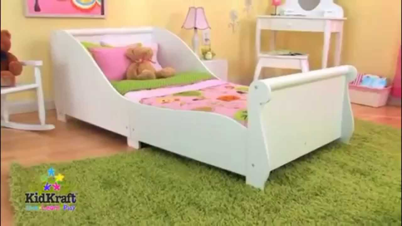 Kids Childs Toddler Junior My First Sleigh Cot Bed KidKraft Bedroom Furniture
