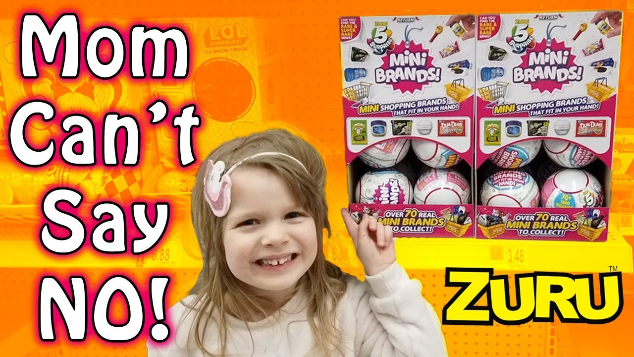Mom Cant Say No Shopping For 5 Surprise Mini Brands At Walmart