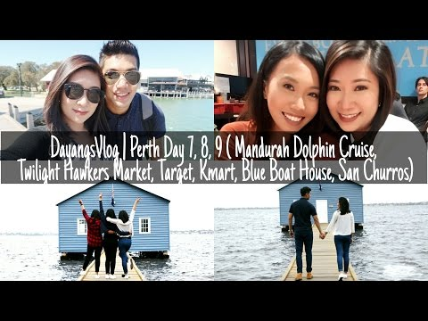 DayangsVlog | Perth Day 7, 8, 9  (Dolphin Cruise,Twilight Hawkers Market,Blue Boat House) | dygans90