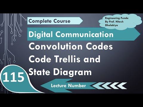 L-100 Code trellis and State Diagram of Convolutional Codes in Digital Communication by Engineering