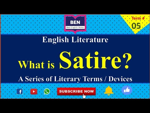 Term 5 What Is Satire Definition Of Satire A Series Of