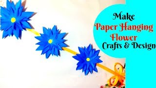 Tutorial Easy Hanging Flower Making at Home Simple and Easy DIY Hanging Flower || Crafts Design