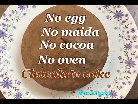 Eggless Chocolate Cake In Cooker Without Maida And Cocoa Powder | WaahTasty