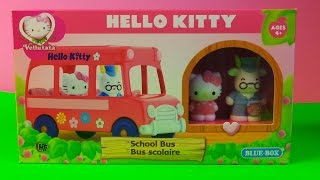 Hello Kitty New School Bus Scolaire By Blue Box Toys Opening And Unboxing