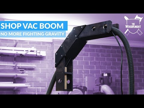 Shop Vac Boom Arm | Woodworking workshop project