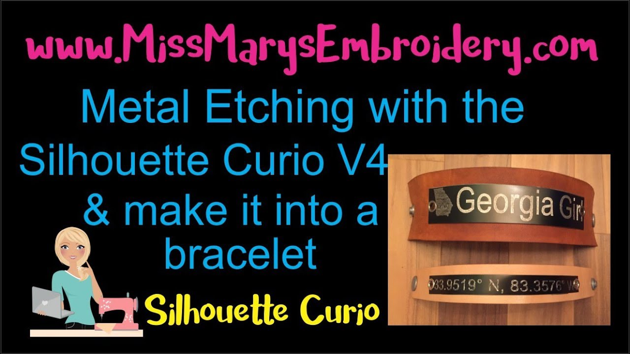 How to Etch Metal with the Silhouette Curio in V4