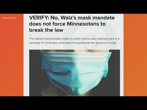 Minnesota mask mandate does not violate state law