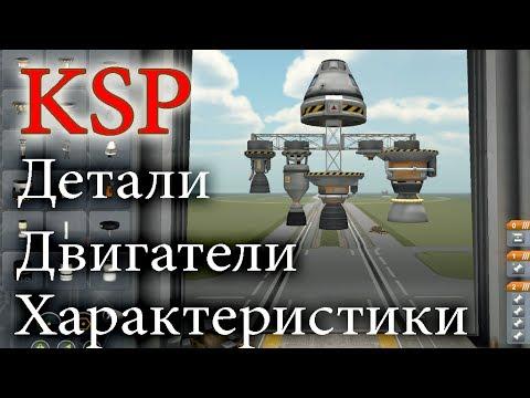 Детали, двигатели, характеристики. Туториал по Kerbal space program -0.23-