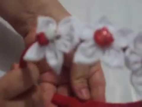 paso a paso de como hacer una diadema con flores de tela