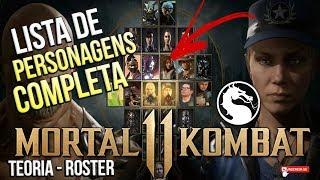 MORTAL KOMBAT 11 - LISTA COMPLETA DE PERSONAGENS - ROSTER DE #MK11 #TEORIA