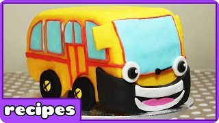 The Wheels On The Bus Cake  | Nursery Rhymes Birthday Cake Ideas For Children By HooplaKidz Recipes