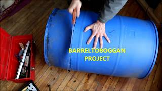 Toboggan - BARREL TOBOGGAN PROJECT