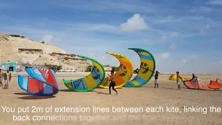 How to KITESURF with 4 kites with Pro Kite Morocco